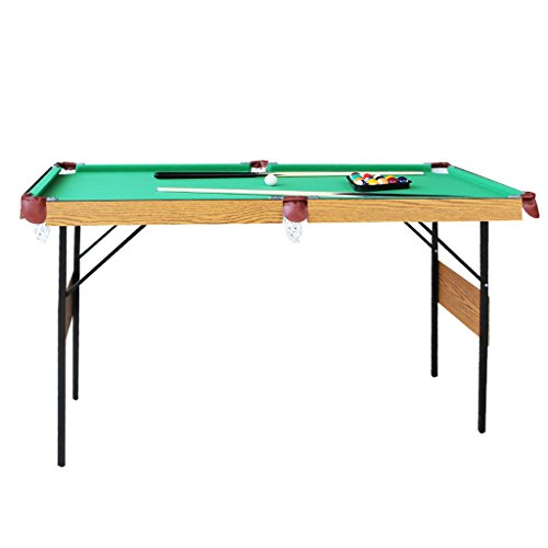 vocheer Billiard Table, Folding Pool Table 55 Inch Game Table for Kids and Adults, Accessories Included, Green