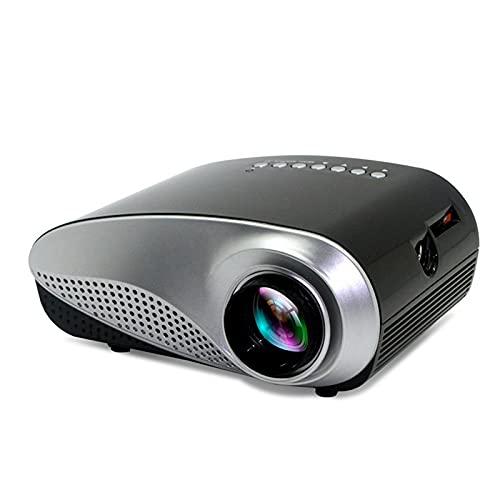 ZLASS Mini proyector, proyector de películas LED portátil 1080P, Puede Leer Disco U, Disco Duro móvil, Tarjeta SD, DVD, decodificador, Incluye Control Remoto y Cable AV, 6.7in