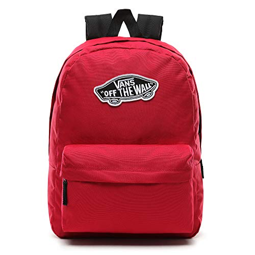 Vans Realm Backpack Casual Rucksack, 42 cm, 22 liters, Cerise