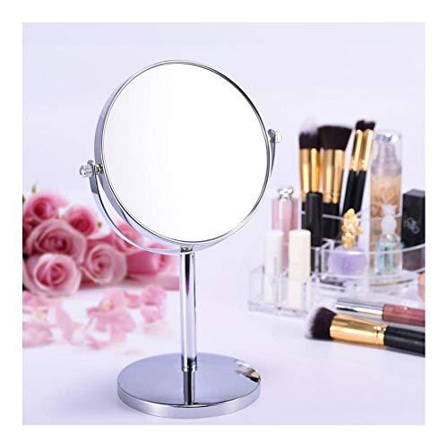 Dubbele Zijdelings Metalen Vergrootglas Cosmetische Spiegel Lady Tafel Bureau Staande Dressoir Maak Ronde Desktop Roterende Spiegel A-1