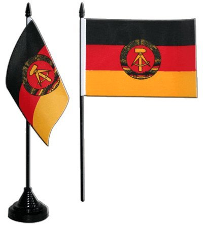 Flaggenfritze® Tischflagge Deutschland DDR 10x15 cm