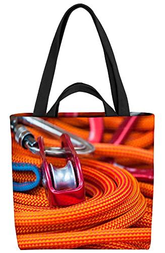VOID Kletterseil Klettern Karabiner Tasche 33x33x14cm,15l Einkaufs-Beutel Shopper Einkaufs-Tasche Bag
