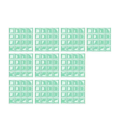 Delisouls Adhesivo para azulejos de mosaico, adhesivo 3D, autoadhesivo, para decoración de manualidades, cocina, baño, color verde