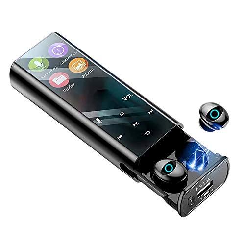 Bluetooth Reproductor De MP3, Auriculares Bluetooth HIFI PortátilDe Música MP3 Reproductor Música 6000MAH Se Puede Usar Como Fuente De Alimentación De Emergencia, Pantalla Digital Al Agua LED,Negro