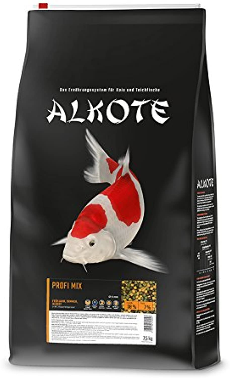 ALKOTE professional mix, higherenergy main food for koi, springsummerautumn, floating pellets, 6mm, 7.5 kg