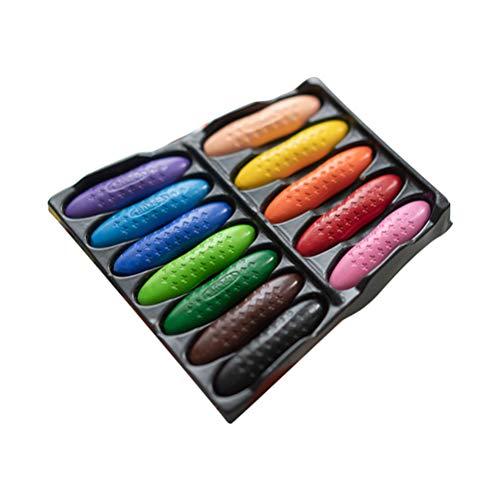 Merkts 12 colori per bambini a base di arachidi gesso, inodore, sicuro, non tossico, non sporco, solubile in acqua, per cancelleria scolastica e materiale artistico