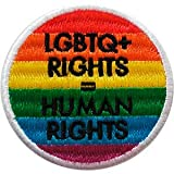 "LGBTQ Rights Human Rights - Sew Iron on, Embroidered Original Artwork - Patch - 3.3"" x 3.3"""