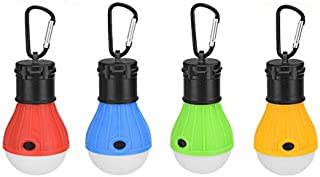 LED Camping Light, 4 Pack Portable Tent Lantern with 3 Modes for Camping, Hiking, Fishing, Backpacking, Halloween Decorati...