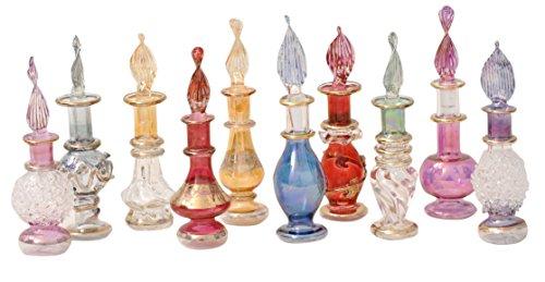 50 unidades de perfumeros de cristal soplado hechos a mano en Egipto