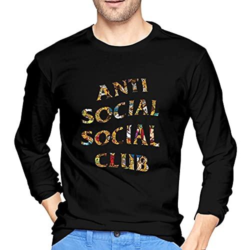 Anti Social Club Shirt Casual Tshirt Men Long Sleeve Cotton T-Shirt