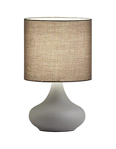 viokef Lighting 4152900lámpara de escritorio D200lana, Metal/Fabric, E14, Gris concrète, 20x 20x 33