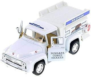 Kinsmart 1956 Ford F-100 Pickup Ice Cream Truck White - Pull Back Action
