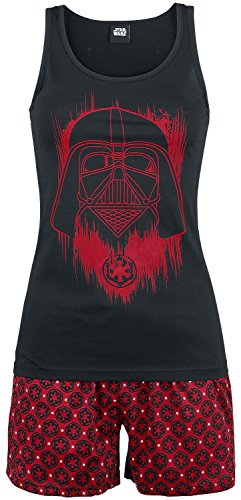 Star Wars Darth Vader Pijama negro/rojo XS