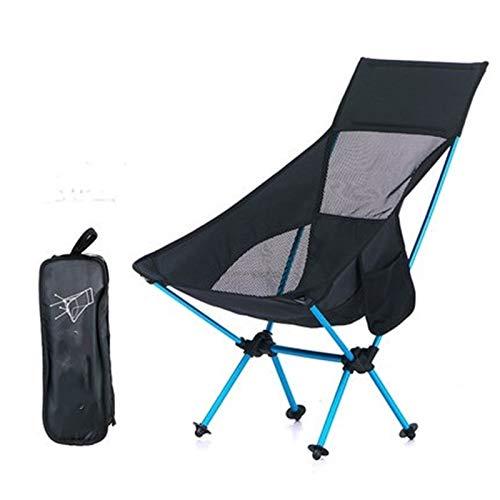 EQVUDJT Portátil Resto de Asiento Plegable Camping al Aire Libre Pesca Natación Portátil Plegable Jardín Playa Sillón para Actividades al Aire Libre (Color : Black)