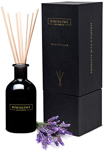 Reed Diffusers for Home | Lavender & Eucalyptus Fragrance Diffuser | Aromatherapy Scented Oil Reed Diffuser Set | Sticks Diffuser