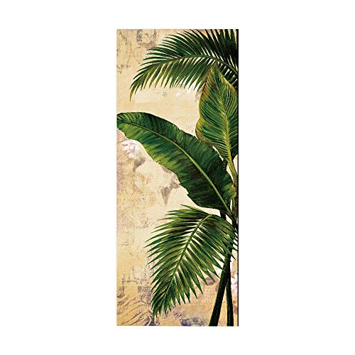 COOLINGSOAP Árbol de Coco 77 × 200 Mural de la Puerta Cartel de la Puerta Papel Pintado Dormitorio Interior Impermeable Autoadhesivo Puerta de la Sala de Estar Mural 3D