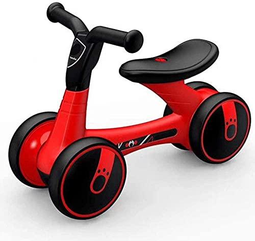 JSL Regalo de seguridad para niños Scooter equilibrio bilis coche bebé caminante 1 – 3 años de edad, sin pedal, Yo Car 4 ruedas caminadora (color: Color4)-B