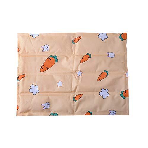 chunnron Tappetino Refrigerante per Gatti Cuscino Refrigerante per Gatti Tappeto di Raffreddamento per Coniglio Cuscino di Raffreddamento per Cani Medium,Orange