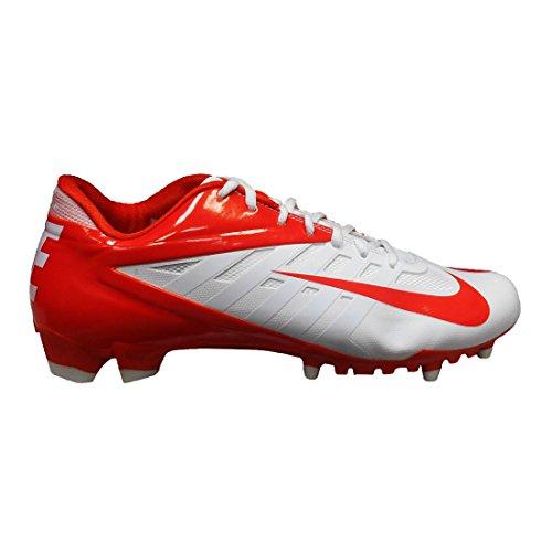 Nike Vapor Pro Low TD Football Cleats (15, White/Orange)