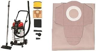 Einhell TE-VC 2230 SA - Aspirador seco / l?quido + Pack de 5 bolsas para aspiradora (30 litros, aspirado en h?medo y seco) color gris