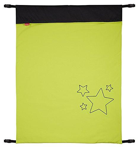 ByBoom - Baby Softshell Decke 70x100 cm Frühling, Sommer, Herbst - Thermo Aktiv für Kinderwagen, Buggy, Jogger, Farbe:Limette/Schwarz