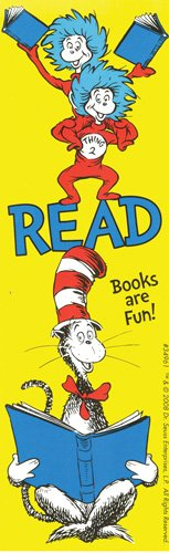 Dr. Seuss Cat In the Hat 'READ Books are Fun!' Bookmarks Pack of 200