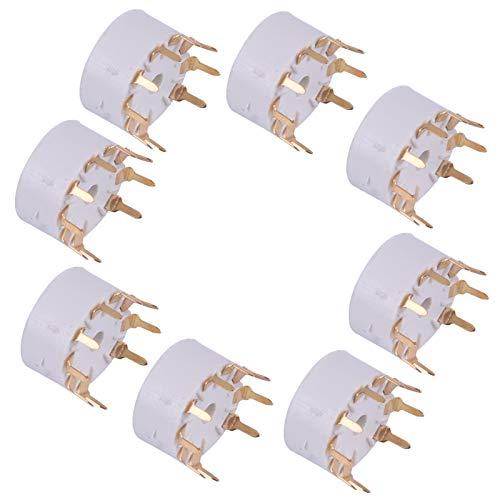 8 Stück 9Pin PCB Mount Vakuumröhrenbuchsen passend für 12AX7 12AT7 12AU7 12AU7 ECC83 ECC82 E88CC Audio
