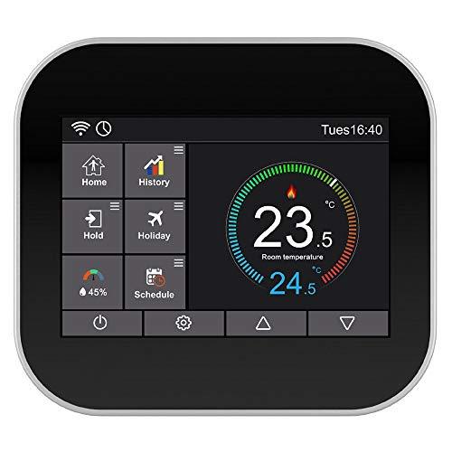 SODIAL Termostato de Prensa Wifi para CalefaccióN de Agua/VáLvula de Radiador por Control por TeléFono Inteligente MC6-HW A