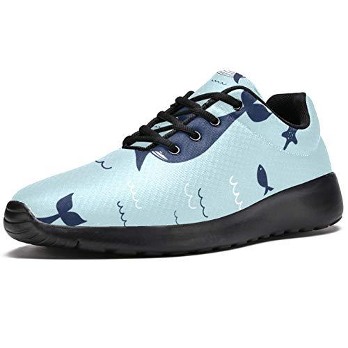 LORVIES Mer de Baline Zapatillas de Deporte para Hombres Casual Zapatillas de Deporte para Hombre, (multicolor), 45 EU