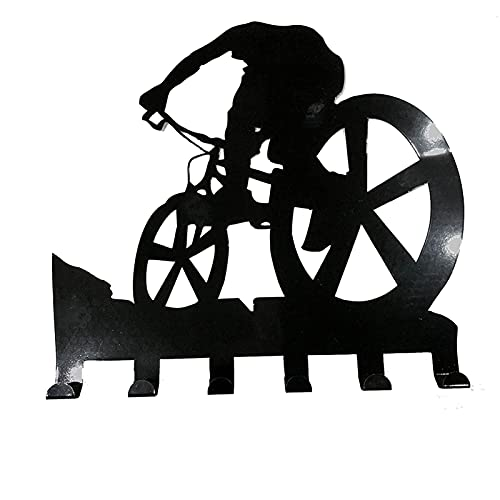Fende Wandsticker für Mountainbike, Metall, geschnitzt, Schwarz