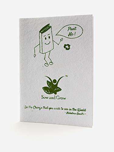 Sow and Grow Umweltfreundliches Pflanzbares Saatpapier Papier Notizbuch Tagebuch Stationär |Grüne Schenkung |Kindergeburtstagsgeschenk |Firmengeschenke…