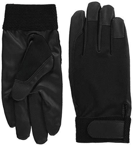 ミドリ安全 合成皮革 作業手袋 PUウイングローブC 薄手タイプ Mサイズ 1双ブラックPU WINGLOVE C