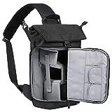 (バッグスマート) BAGSMART ドローン収納対応 カメラバッグ ボディバッグ 胸バッグ ショルダーバッグ カメラ ケース レインカバー付き 盗難防ぎ 軽量 撥水加工