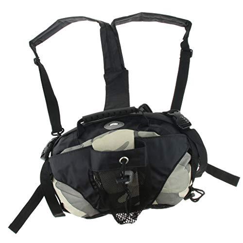 perfk Sport Rucksack Aufbewahrungstasche für Rollschuhe oder Inline Skates, schwarz - Camo