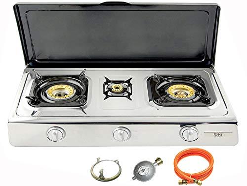 Nsd de 3C Acero Inoxidable de calidad Hornillo de gas 3focos con...