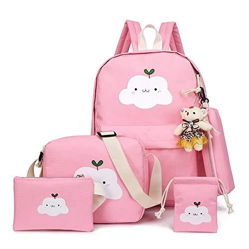Rubyu 5-delige set kinderrugzak schooltas kleuterschooltas voor jongens/meisjes cartoonkleuterschool boek tassen voor kleuterschool school reizen etc.