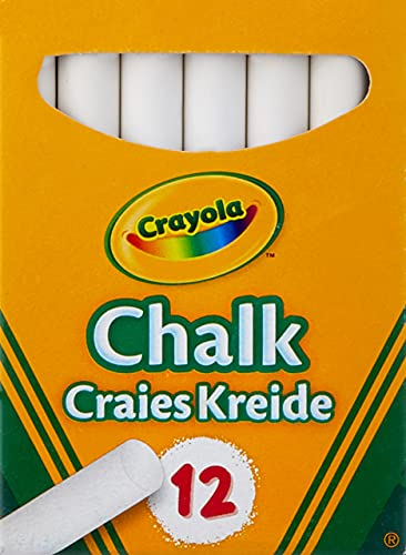 Crayola 01.0280.10 Anti Dust White Chalk 12 Pack, 12 Count (Pack of 1)