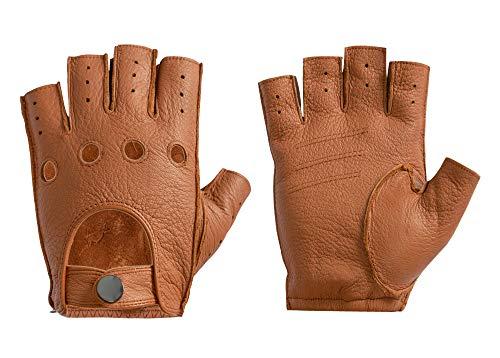 ilishop Fitness Leder Handschuhe, Trainingshandschuhe Halbfinger Fitnesshandschuhe Sport Handschuhen mit Gym Radfahren