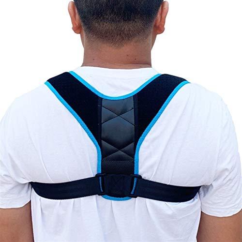 SADDPA DSMYYXGS 1 Uds Corrector De Postura Soporte Espinal-Terapia Física Postura Ortopédica Espalda Hombro Y Cuello Alivio del Dolor Postura Entrenador (Color : Blue)