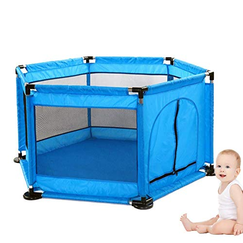 NBVCX Home Decorative 6-panel baby playpen household protection activity center play center fence with breathable mesh for babies toddler newborns to play indoors and outdoors