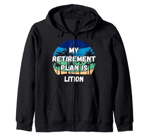 Lition Crypto, mi plan de jubilación es Lition Sudadera con Capucha