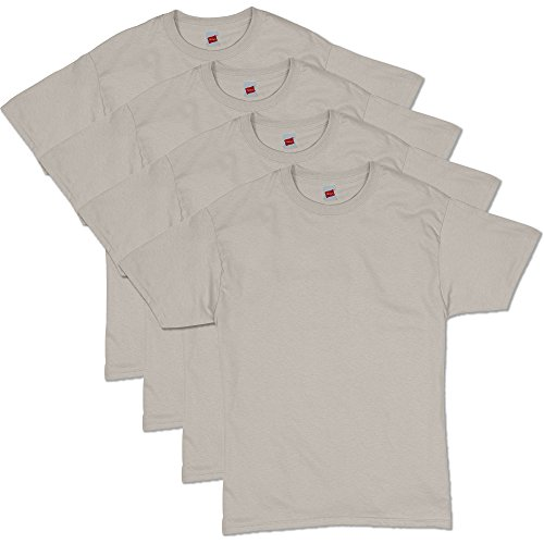 Hanes Men's ComfortSoft Short Sleeve T-Shirt (4 Pack ),sand,Medium