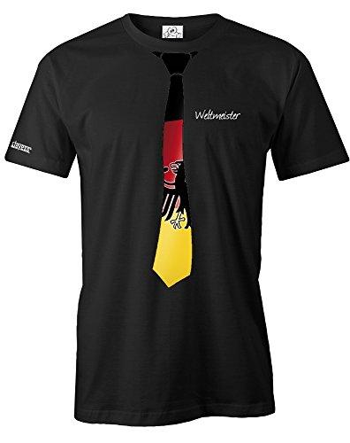 Jayess Deutschland Weltmeister Krawatte - WM 2018 - Herren - T-Shirt in Schwarz by Gr. XXXL