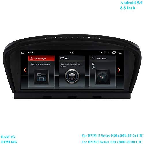 XISEDO 8.8 inch scherm Android 9.0 autoradio RAM 4G ROM 64G radio met GPS-navigatie voor BMW 3-serie E90 (2009-2012)/ BMW 5-serie E60 (2009-2010) oorspronkelijke CIC-systeem