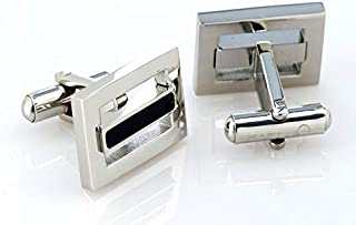 PAREJO CLV-0502 BL STAINLESS CUFFLINK FOR MEN