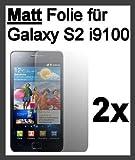 2x Samsung Galaxy S2i9100pantalla mate Protector Pantalla Anti-glare @ Energmix®