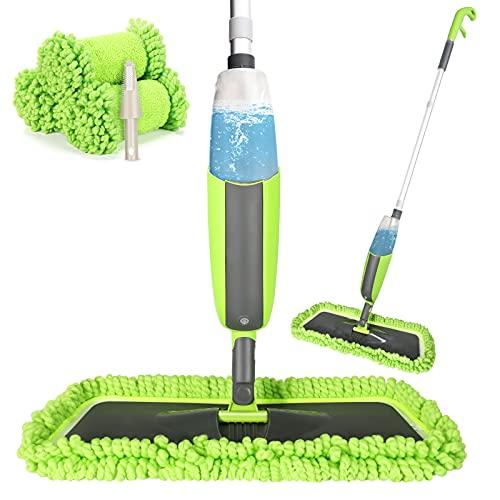 Winpok Spray Mop, Mopa con Pulverizador y Función de Pulverización para una Limpieza Rápida, Mopa con Pulverizador, Limpiador con Depósito de Agua y 3 Fundas de Microfibra