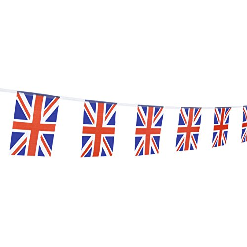 TSMD 100 Feet United Kingdom UK Flag 76Pcs Indoor/Outdoor British Union Jack National Country Flags,Party Decorations Supplies For Grand Opening,Sports Clubs,International Festival,(8.2 x 5.5)