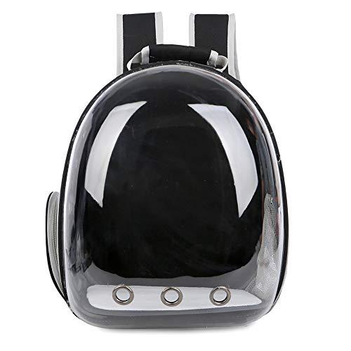 Porfeet Bolso De Viaje para Mascotas, Mochila De Viaje para Mascotas, Cachorro De Perro Y Gato Mochila Astronauta Bolsa De Aire Libre- Transpirable Negro One Size