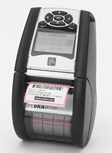 "Zebra QN2-AUNA0E00-00 QLN 220 Direct Thermal Mobile Label Printer, Wi-Fi and Bluetooth, Monochrome, 203 dpi, 2.75"" H x 3.5"" W x 6.5"" D QLn220"
